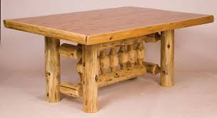 Used Dining Room Tables Log Dining Table 6 W Standard Finish Used Log Dining Room Table