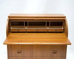 Mid Century Secretary Desk by Desk Vintage Teak Roll Top Desk Teak Rolltop Desk With Three