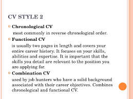 Chronological And Functional Resume My Curriculum Vitae