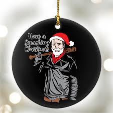 a smashing santa negan the walking dead