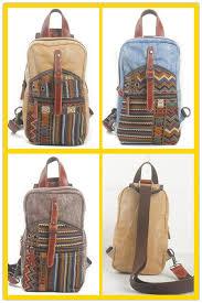 rucksack design wholesale 2017 new model canvas and genuine leather vintage