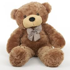 feet height brown colour teddy bear