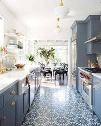 White And Gray Kitchen Cabinets by My Fresh New Blue Kitchen Reveal The Wicker House Benjamin