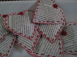 roommom27 hearts made from book pages