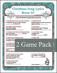 christmas song lyrics know it game christmas carol game