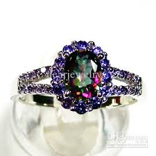 color wedding rings images Fashion jewelry ellipse amethyst stone ring mystic main stone jpg