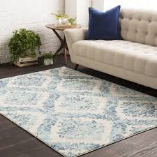 Teal Living Room Rug by Andover Saffron Blue Area Rug Wayfair