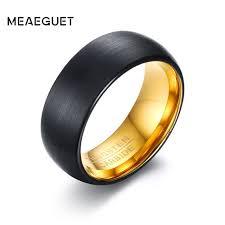 cincin tungsten carbide meaeguet emas hitam warna pria tungsten cincin pernikahan band 8