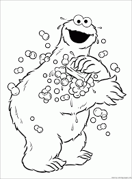 cookie monster coloring pages print archives cookie