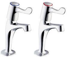 Deva Lever Chrome Kitchen Sink Pillar Taps  Plumbers - Kitchen sink pillar taps