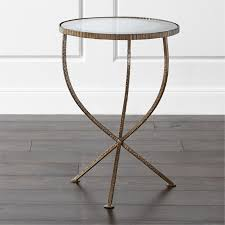 small outdoor accent tables end tables crate and barrel