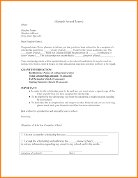 templates for scholarship awards 7 scholarship award letter template new looks wellness