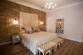 exposed brick wall lighting exposed brick wall and glamorous lighting shabby chic bedroom