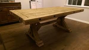ana white chunky barnwood farmhouse table diy projects