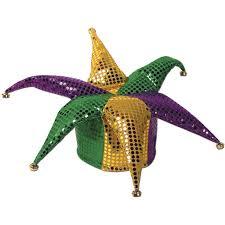 mardi gras hat mardi gras glitz n gleam jester hat kitchen dining