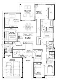 Dual Master Bedroom Floor Plans by 4 Bedroom Floor Plan Love The Kids U0027 Lounge That Helps Designate A