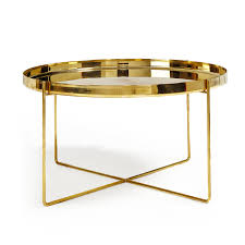 Brass Coffee Table by Tray Très Bon Side Table Brass