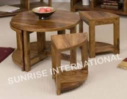 sheesham möbel collection on ebay sheesham wood wooden coffee center table with 4 stools