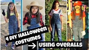 4 diy halloween costumes using overalls youtube