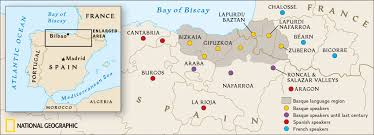 Burgos Spain Map by Genographic Project Basque Map