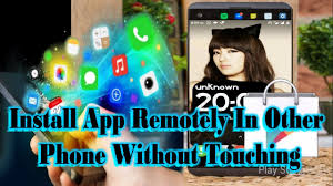 install remotely in other phone without touching target