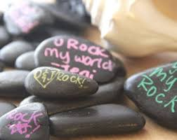 wishing rocks for wedding guestbook rocks etsy