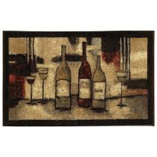 Mohawk Accent Rugs Amazon Com Mohawk Home New Wave Wine And Glasses Printed Rug 3