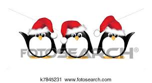 clipart of christmas penguins isolated k7845231 search clip art