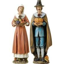 and american thanksgiving figurines set of 2
