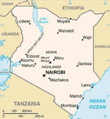 geographical map of kenya about kenya facts and general information