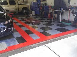 livestream garage floor tile basics differences between tiles randy z s black and silver with double red border tiled garage floor