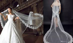 wedding veils real image 3 meters wedding veils lace applique edge tulle
