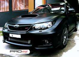 subaru matte black matte film and car wrap