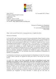 loi du mariage pour tous a monsieur le président de la république lettre ouverte projet