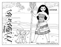 moana coloring pages getcoloringpages com