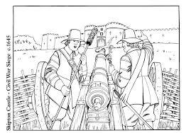 coloring page civil war siege img 14896