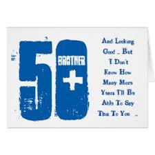 brothers 50th birthday greeting cards zazzle co uk