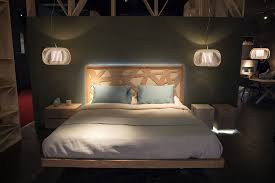 Bedside Lamp Ideas by Bedroom Wooden Frame Gives The Bed A Modern Yet Natural Vibe