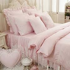 light pink and white bedding luxlen deluxe down alternative comforter queen 88 x 88 light