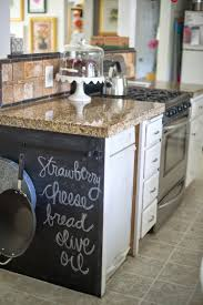 kitchen chalkboard wall ideas domestic fashionista using empty kitchen space counter