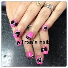 pink u0026black nails design creative nails design pinterest pink