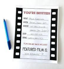 movie night invitations template movie night invitations also perfect best movie invitations images