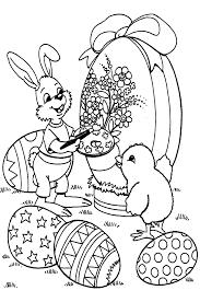 papier peint a colorier coloriage paques lapins 4 à colorier allofamille