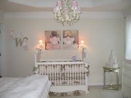 beautiful and safe baby room decoration with tufted crib decorated
