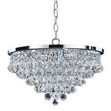 Glow Lighting Chandeliers Glow Lighting Vista 6 Light Faceted And Chrome