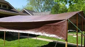 Diy Backyard Canopy Diy Tarp Camping Canopy Youtube