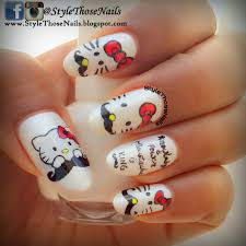 style those nails hello kitty with moustache movember nail art