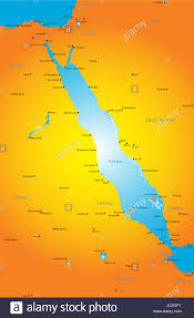 Map Of The Red Sea Vector Color Map Of Red Sea Region Stock Photo Royalty Free Image