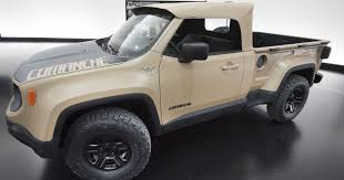 jeep renegade comanche pickup concept new jeep wrangler pickup coming in late 2019