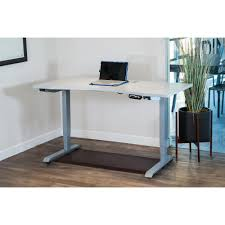 Height Adjustable Desks by Canary Grey Electric Height Adjustable Desk Frame Abc592gr The